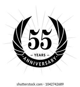55 Years Anniversary Elegant Design Logo