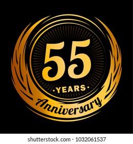 55 Years Anniversary Logo Design