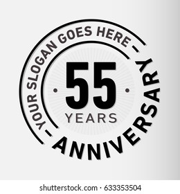 55 years anniversary logo template. Vector and illustration.