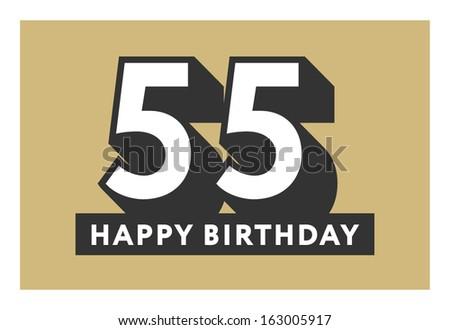 55 Years Old Birthday Card