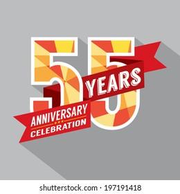 55th Years Anniversary Celebration Design