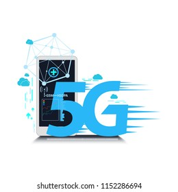 5g connection network internet vector. concept.