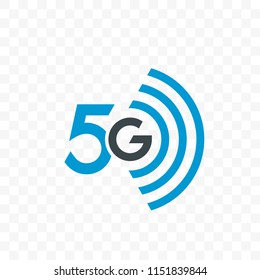 5G internet network vector logo or UI app icon for 5 G mobile net connection