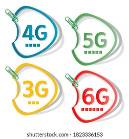 5G logo sign. vector illustration template. Icon set