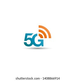 5G network logo. Logo network 5G connection.