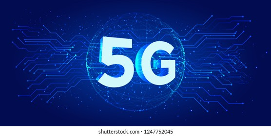 5G new wireless internet connection Vector abstract background. Global network high speed network