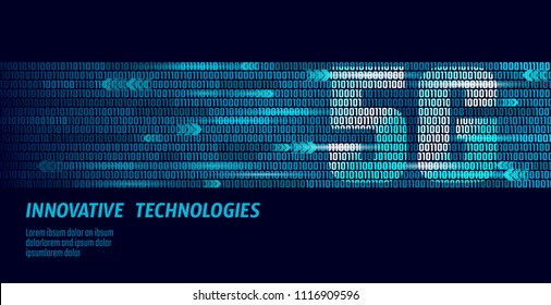 5G new wireless internet wifi connection. Big data binary code flow numbers. Global network high speed innovation connection data rate technology vector illustration