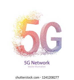 5G Technology Illustration .High Speed Internet