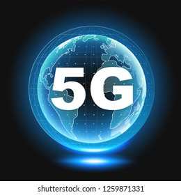 5G wireless internet wifi connection.
