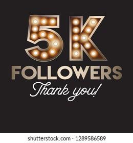 5K followers social media post template