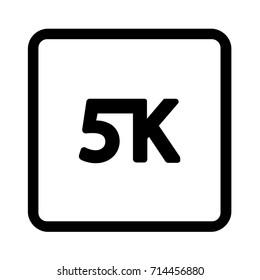 5k icon