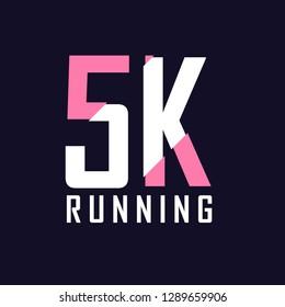 5K running vector template design.illustration