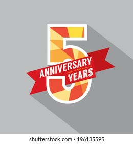 5th Years Anniversary Celebration Design