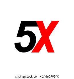 5x sign icon. faster symbol