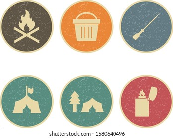6 Icon Set Of camping For Personal And Commercial Use...