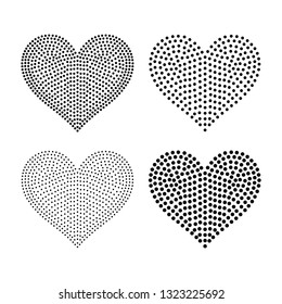 6 inch Wide Vector Heart shaped Blackline for Rhinestones of Studs.