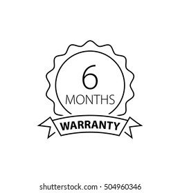 6 months warranty label
