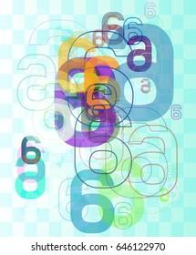 6 Number design vector