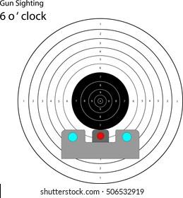6 o'clock gun sighting