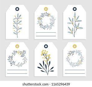 6 redy print christmas gift tag stock vector royalty free