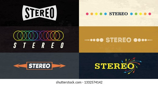 6 Stereo logo on retro style