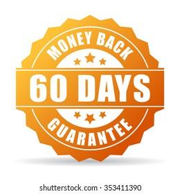 60 days money back gold icon
