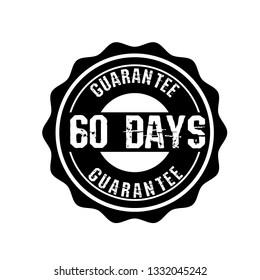 60 days quarantee emblem.