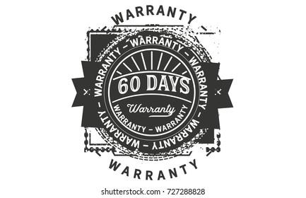 60 days warranty icon vintage rubber stamp guarantee