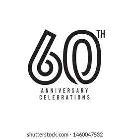 60 Th Anniversary Celebration Vector Template Design Illustration
