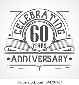 60 Years Anniversary Celebration Design.