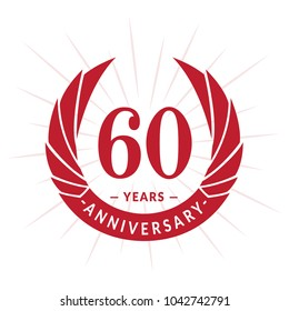 60 years anniversary. Elegant anniversary design. 60 years logo.