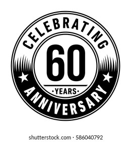 60 years anniversary logo template. Vector and illustration.