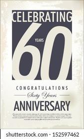 60 years anniversary retro background