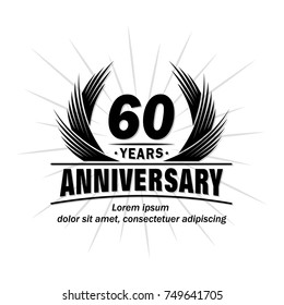 60 years design template. Anniversary vector and illustration template.