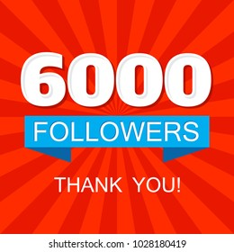 6000 (six thousands) followers social media post for networks