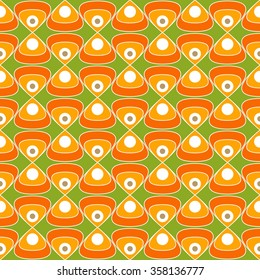 60's fabric, Bright and colorful pattern inspired by retro design, 60's and 70's