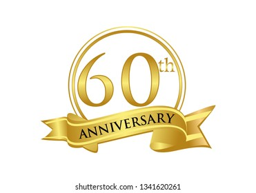 60th Anniversary celebration logo vector