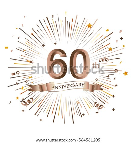60th anniversary greeting card starburst vector stock vector 60th anniversary greeting card with starburst vector illustration m4hsunfo