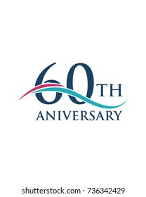 60Th anniversary, logo, icon, vector