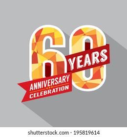 60th Year Anniversary Celebration Design