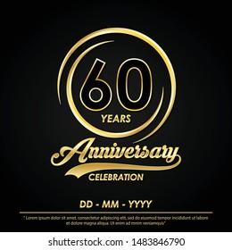 60th Birthday Invitation Card Stock Illustrations Images