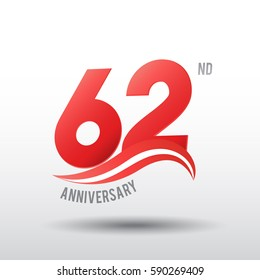 62 Years Anniversary Celebration Design