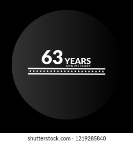 63 years anniversary celebration simple logo