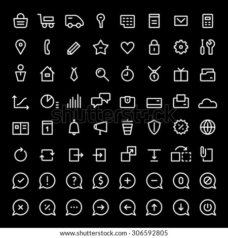 64 Mini Icons Web Services Online Stock Vector (Royalty Free
