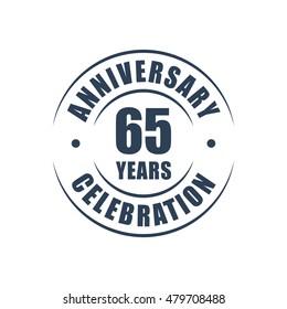 65 years anniversary celebration logo
