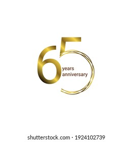 65 Years Anniversary Celebration Vector Template Design Illustration