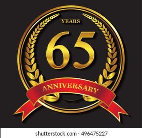 65 years anniversary celebration.65th anniversary logo design.