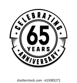 65 years anniversary logo template. Vector and illustration.