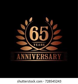 65 years anniversary logo template.