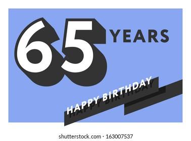 65 years birthday card